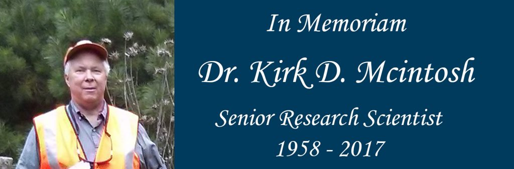 In Memory of Dr. Kirk D. Mcintosh