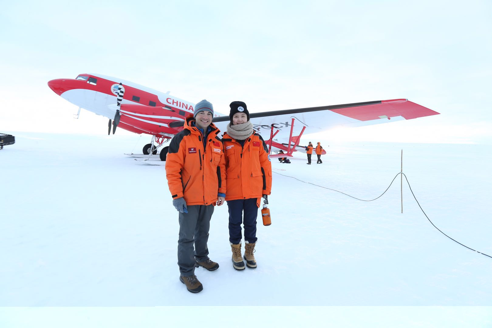 Jamin Greenbaum and Wei Wei in Antarctica