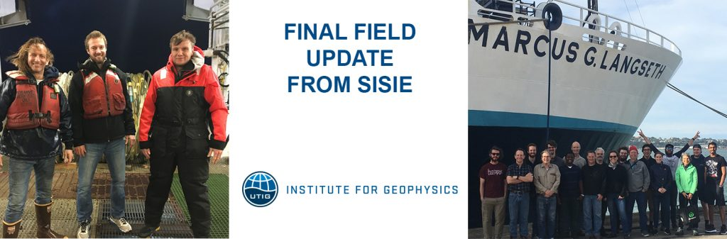 From The Field: Final Update From SISIE