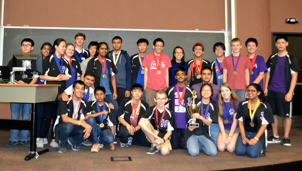 The LASA team poses with their Science Olympiad medals.