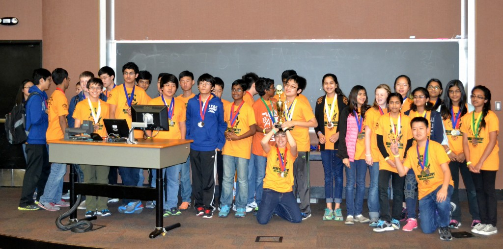 The Beckendorff Junior High Science Olympiad team.