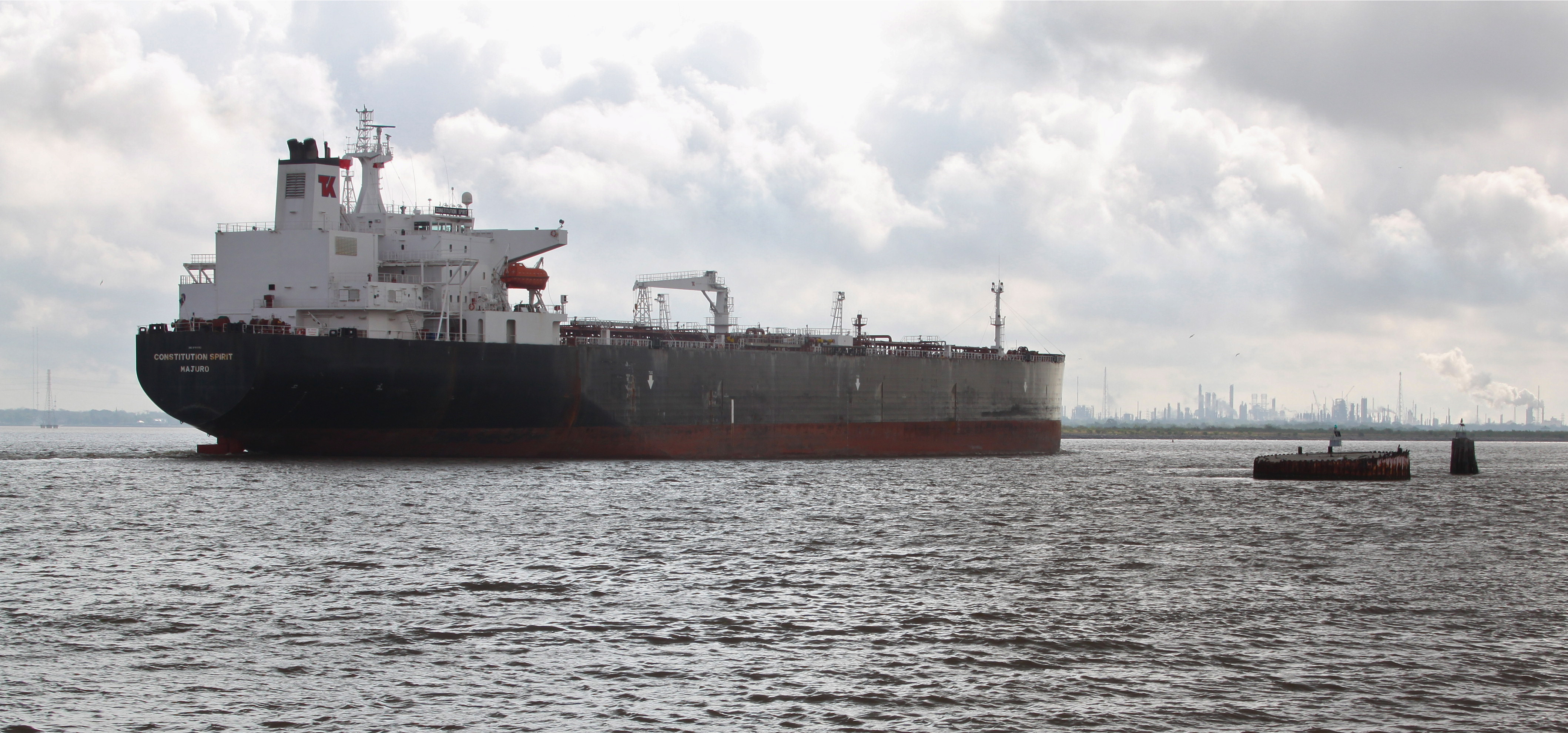 Tanker 'Constitution Spirit' steams towards Galveston Bay