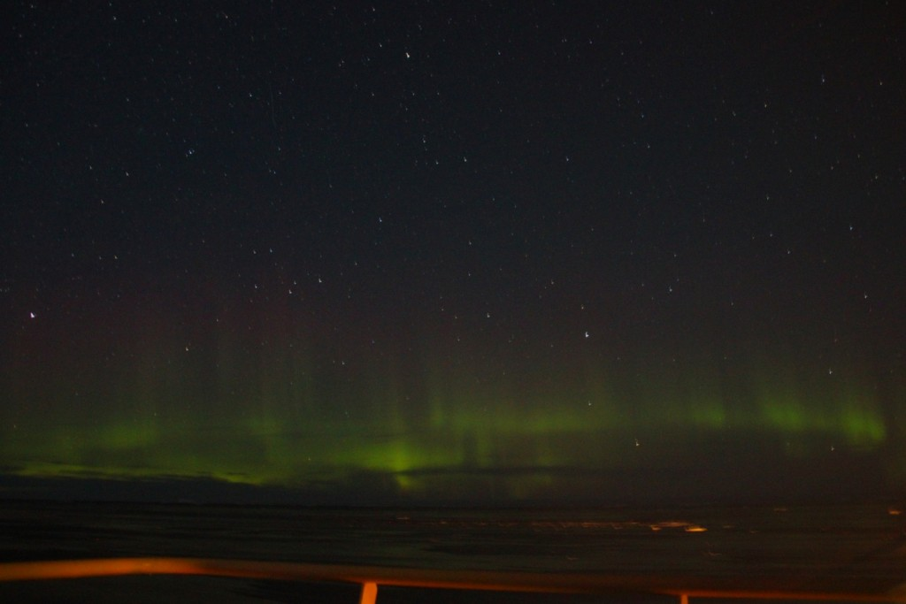 View of Aurora Borealis from the ship