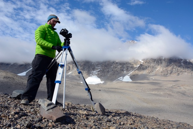Joseph Levy, Research Associate at the University of Texas Institute for Geophysics, has been named a NASA Early Career Fellow for his work looking at erosion on Saturn's moon, Titan. Levy is pictured here on his most recent field work expedition to McMurdo Dry Valleys in Antarctica. (Photo courtesy Joseph Levy)