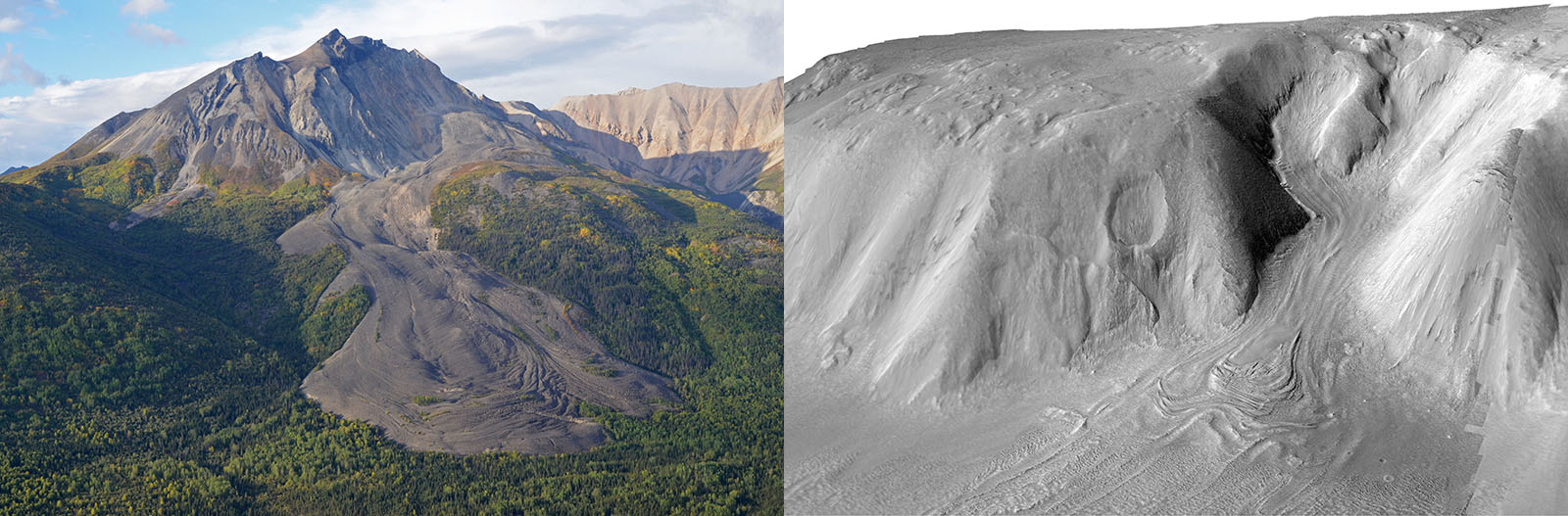 Debris covered glacier examples